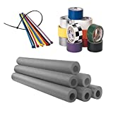 Foam Roll Bar/Cage Padding Installation Kit, Black