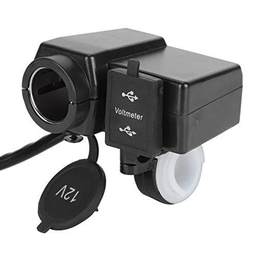 Encendedor de cigarrillos para motocicleta Cargador USB dual confiable Adaptador de corriente para motocicleta Cargador de motocicleta Accesorios duraderos para motocicleta para(red)