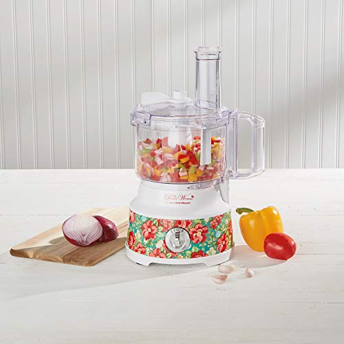 The Pioneer Woman Vintage Floral 10-Cup Food Processor by Hamilton Beach