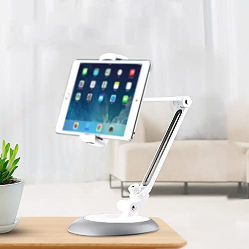 ZCXBHD Soporte para Teléfono Móvil Soporte para Tableta Soporte De Tableta De Metal Portátil Giratorio De ángulo Múltiple Plegable para iPad 1 2 3 4 / iPad Air Pro/Tabletas Samsung / 4-10.5 Pulgadas