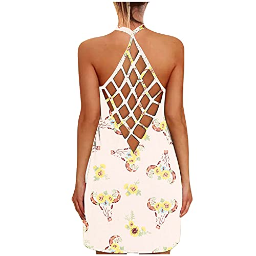 Fcostume Top Damen Sommer Sexy Ärmellos Shirt Crop Tops Damen Mode Rundhals Bluse Mode Camisole Tank