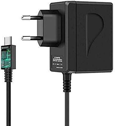 Adaptador de corriente rápido para Nintendo Switch/Switch Lite, USB tipo C, compatible con el modo TV de carga rápida, enchufe EU