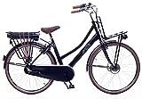 Amigo E-Pulse - Elektrofahrrad für Damen - E-Bike 28 Zoll - Damenfahrrad mit Shimano 3-Gang - Geeignet ab 170-175 cm - Schwarz