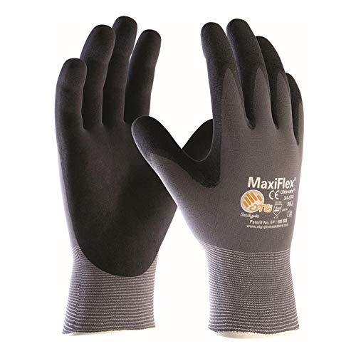 12 Paar MaxiFlex Arbeitshandschuhe, Strickhandschuhe, Montagehandschuhe, Gr. 10 (XL)