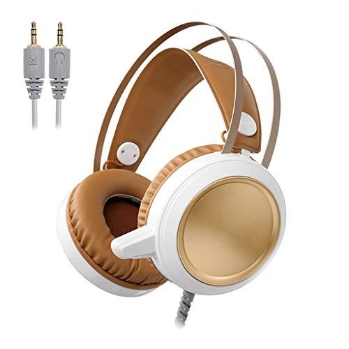 EAR ruisonderdrukking, led, voor computer, hoofdtelefoon, met microfoon, voor hoofdtelefoon, pc, PS4, Xbox One, Nintendo Switch, Mac, laptop, smartphone USB, A