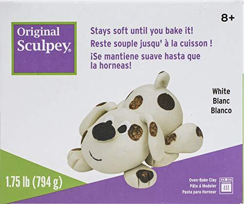 Polyform Sculpey Original Polymer Clay, 1.75-Pound, White
