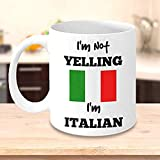 Jackgold Honey Coffee Mug 11oz-Coffee k Reusable Cups Funny Italian I'm Not Yelling I'm Italian Italian Mom Or Italian Dad Gift Perfect Father's Day Or Mother's Day Gift Best Mug Gifts