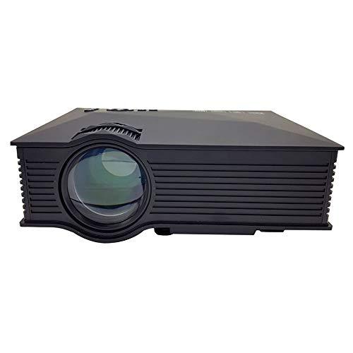 YHML UC46 + Projektor WiFi 1200Lumens Projektor, 800 × 480Resolution LED Fern Projektor, Schwarz
