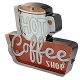 Tubayia Vintage Kaffee LED Lichtbox Leuchtschild Lichtkasten für Bar