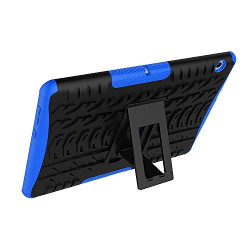 XITODA Huawei MediaPad T3 10 Hülle, Armor Style Hybrid PC + TPU Silikon Hülle Mit Stand Schutzhülle für Huawei MediaPad T3 10 (9,6 Zoll) Tablet Case Cover Tasche - Dunkelblau - 6