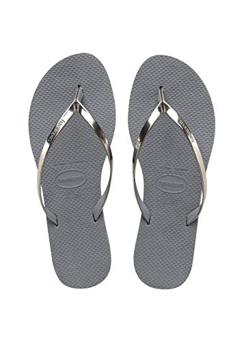 Havaianas Damen You Metallic Zehentrenner, Grey (Steel Grey), 35/36 EU