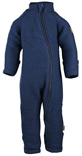 mikk-line mikk-line Unisex Baby Wollanzug Spieler, Blau (Blue Nights 287), 56