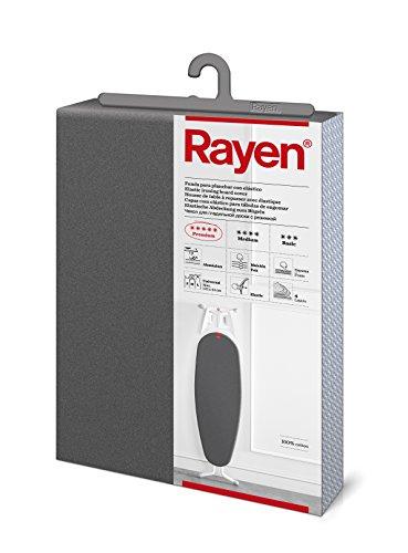 Rayen 6088.03 Funda para Tabla de Planchar | Universal | Recubrimiento de Aluminio | 127x51 cm, Tejido de algodón Metalizado, Gris Oscuro