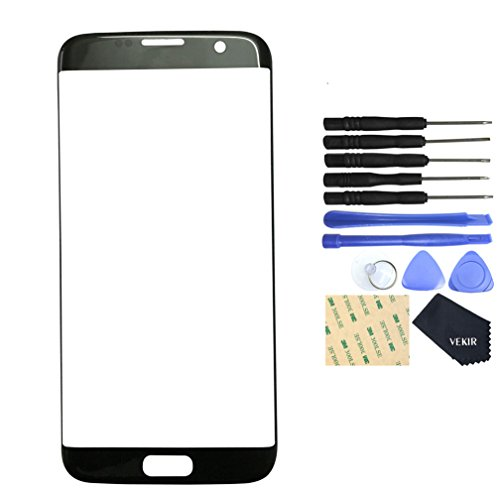 VEKIR Vetro di Riparazione dello Schermo per Samsung Galaxy S7 Edge (Blck)