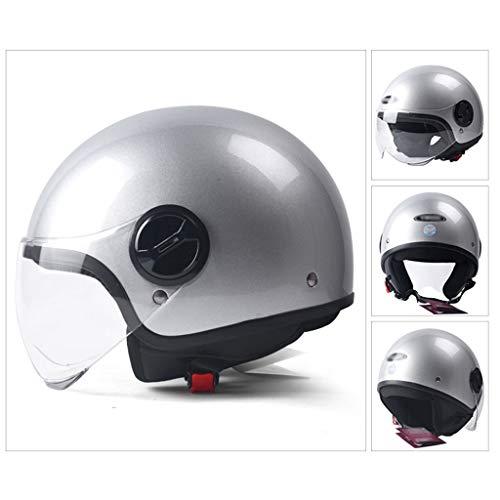 DJCALA Universele zomerhelm, DOT-gecertificeerd, jethelm, scooterhelm, halve helm, klassieke retro harley motorhelm, elektrische auto-scooter, botsingshelm voor mannen en vrouwen