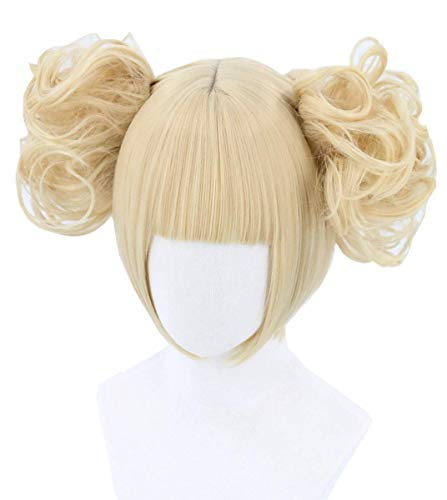 Topcosplay Anime Perücke, Unisex Cosplay Perücke mit Perückenkappe, Blond Perücke für Halloween, Kostüm Party, Karneval, Fasching