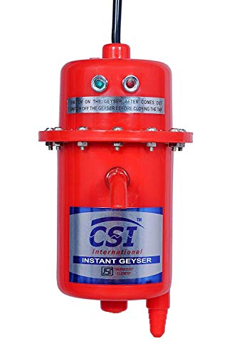 CSI INTERNATIONAL® Instant water geyser, water heater, portable water heater, geyser made of first class ABS Plastic 3KW (Red)