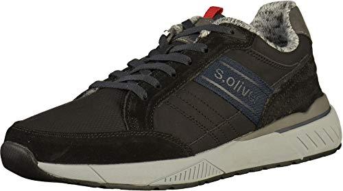 s.Oliver Herren Low-Top Sneaker 13614-21,Männer Halbschuh,Sportschuh,Schnürschuh,Black,EU 44