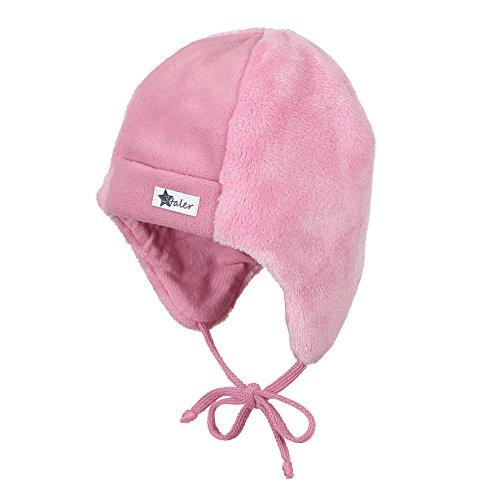 Sterntaler Mütze mit Ohrenklappen und Bindebändern, Alter: ab 3-4 Monate, Größe: 39, Pink (Hellrosa)