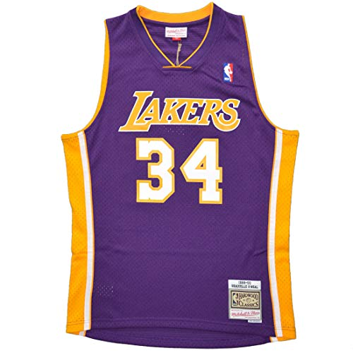 Mitchell & Ness Swingman Jersey Los Angeles Lakers Shaquille O'Neal #34 Purple 99-00 M