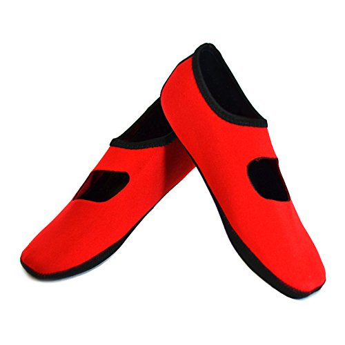 Merceditas Mujer Rojo  marca Nufoot