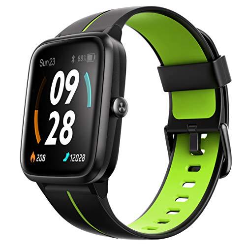 Ulefone Orologio GPS - 40 Giorni Durata Della Batteria, Smartwatch Impermeabile 5ATM, Schermo 1,3', Cardiofrequenzimetro Fitness Tracker, Polso Contapassi Smartband Cronometro per iOS Android Verde