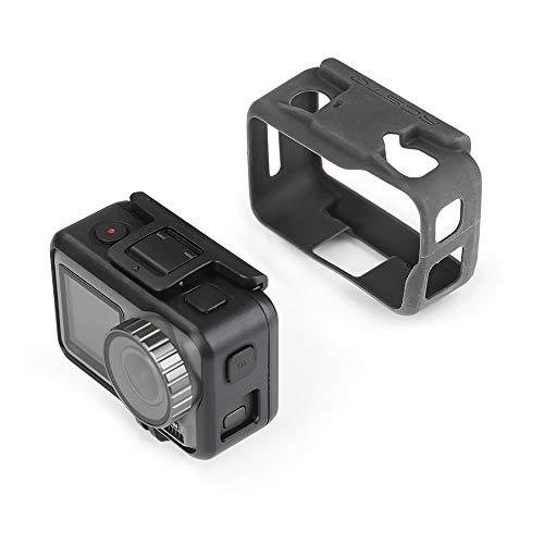 Hensych actie camera silicone carrosserie case & lensdop voor DJI OSMO Action, full-body beschermhoes frame, lens afdekking deksel, Lichaamsbedekking.