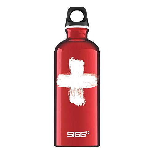 Sigg Swiss, Borraccia d'Acqua Unisex – Adulto, Rosso, 0.6 L