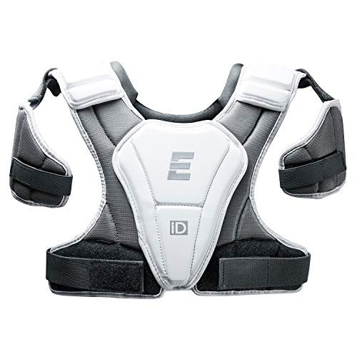 Epoch iD High Performance Lightweight Lacrosse Shoulder Pad for Attack, Middie and Defensemen, Large, White