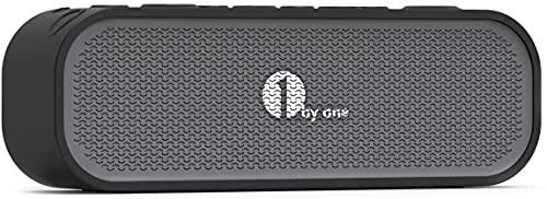 1byone 4.0 Bluetooth Lautsprecher, Würfel, Innen- und Außenanwendung, IPX5 wettergeschützter Lautsprecher mit Line-In Eingang, Farbe : schwarz