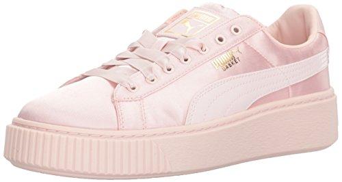 PUMA Basket Platform Sneaker da bambino, bianco (Perla), 31 EU