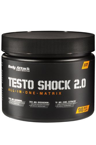 Body Attack Testo Shock 2.0, 1er Pack (1 x 96 g) + GRATIS Pillenbox