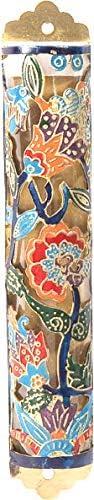 YourHolyLandStore Many popular brands Jewish Brass Mezuzah Case Max 64% OFF Hand - Judai Painted