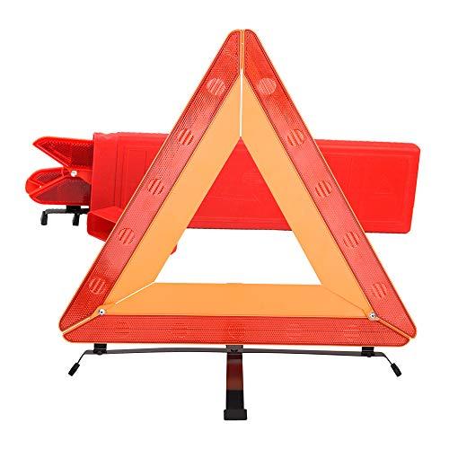 Warxin Auto-Warndreieck zusammenklappbar in Schutzhülle aus Kunststoff, Stabilität Triangle Base, rot reflektierend Dreieck, für für jedes KFZ, LKW, SUV oder Motorrad Pannen/Unfälle