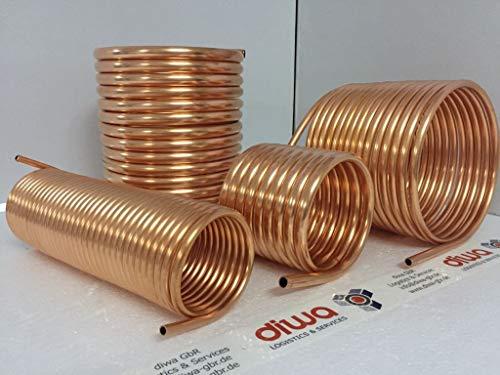 Spirale aus Kupferrohr 15x1mm weich aus 10m mit Ø ca. 30cm (Kupferrohrspirale)