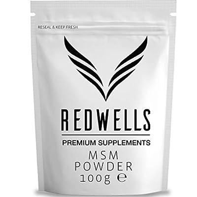 REDWELLS 100g Pure Crystalline Methylsulfonylmethane (MSM) Powder