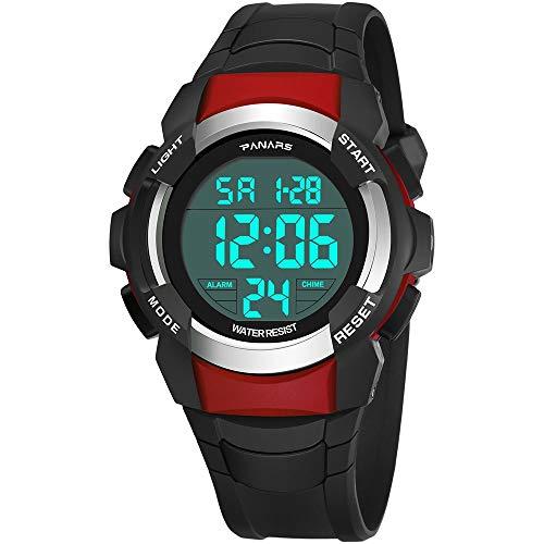 Withou Impermeable del Reloj de los Hombres, Multifuncional Reloj Luminoso, Creativa Personalizada Deportes Reloj electrónico, Deportes al Aire Libre Operando Estudiante Masculino Reloj