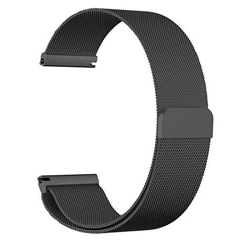 TRD Correa de Reloj de Acero Inoxidable milanesa para For Xiaomi Huawei For Samsung,Pulsera de Malla de Reloj Inteligente 14/16/18/20/22 mm con Brazalete de reemplazo con Hebilla de Gancho