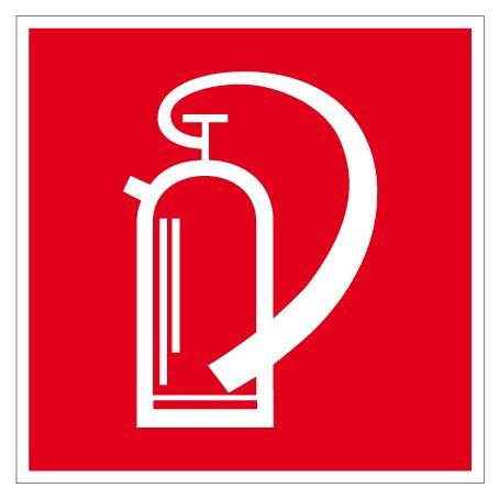 Brandschild van kunststof - brandblusser - zijlengte 10 tot 40 cm 30 x 30 cm