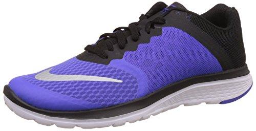 Nike Damen WMNS FS Lite Run 3 Laufschuhe, Violett (PRSN VLT/Mtllc Slvr-Blck-Wht), 36.5 EU