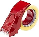 PROSUN Easy-Mount 2 Inch Tape Gun Dispenser Packing Packaging Sealing Cutter Red Handheld Warehouse Tools