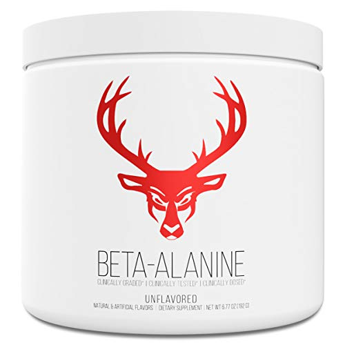 Bucked Up Beta Alanine 3.2g Powder | Pure Beta Alanine, Gluten Free & Non-GMO - Clinically Dosed and Tested - Boost Strength, Endurance, Muscle Mass, and Workout Capacity (60 Servings)