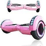 Wind Way Hoverboard 8,0' - Moteur 700W - Bluetooth - Batterie 4,4AH - Self Balancing Scooter Tout Terrain Adulte - Skateboard Roues LED - Gyropode Meilleur Qualité - Enfant SmartBoard Pas Cher - Rose