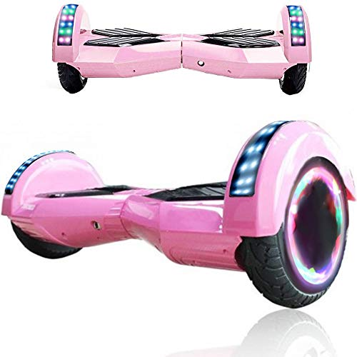 "Wind Way Hoverboard 8,0"" - Moteur 700W - Bluetooth - Batterie 4,4AH - Self Balancing Scooter Tout Terrain Adulte - Skateboard Roues LED - Gyropode Meilleur Qualité - Enfant SmartBoard Pas Cher - Rose"