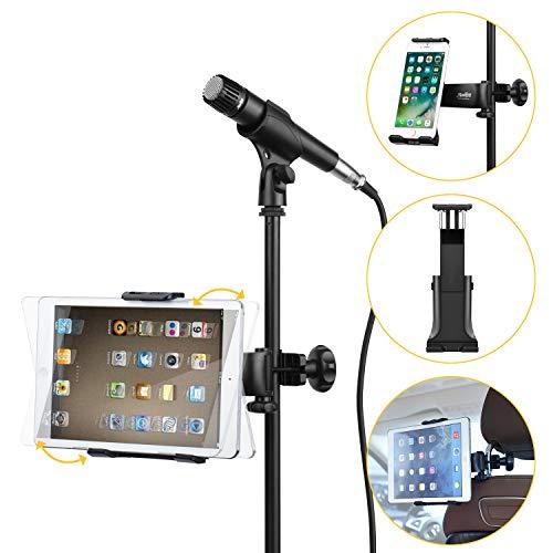 Moukey Soporte de micrófono Ajustable para Tableta de 7-13 Pulgadas...