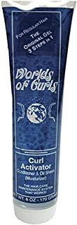 Worlds of Curls Curl Activator Conditioner & Oil Sheen for Regular Hair, 6 Ounce