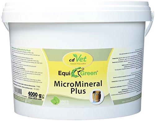cdVet Naturprodukte EquiGreen MicroMineral plus 4kg - Pferd - Vitamin, Mineralstoff- und Spurenelementgeber - Magnesiummangel - Zink- + Selenquelle - Magensäurebinder - Schadstoffebinder - Darm -