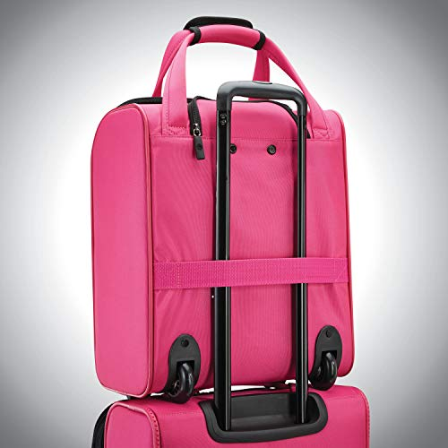 American Tourister 4 Kix Expandable Softside Luggage, Pink, Underseater