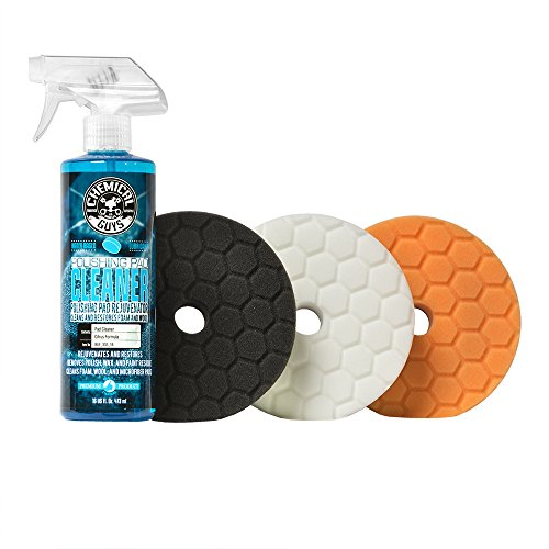 Chemical Guys BUFX702 Hex-Logic Quantum Buffing Pad Sampler Kit, 16 fl. oz (4 Items) (5.5 Inch Fits 5 Inch Backing Plate)