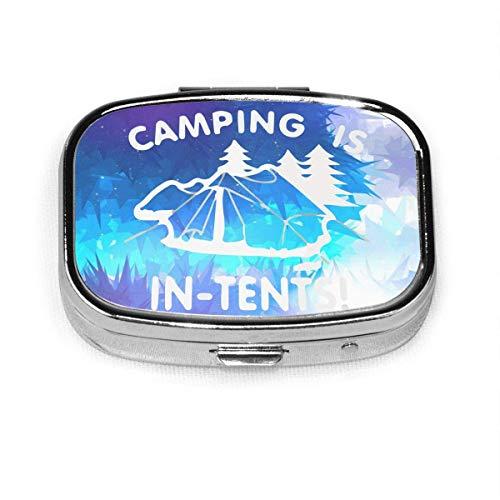Camping ist in Zelten Mode Quadrat Pille Box Vitamin Medizin Tablettenhalter Brieftasche Organizer Fall